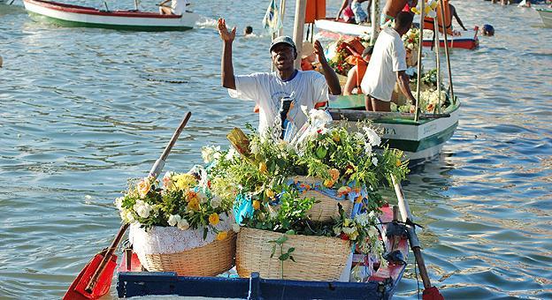 Celebración en el mar